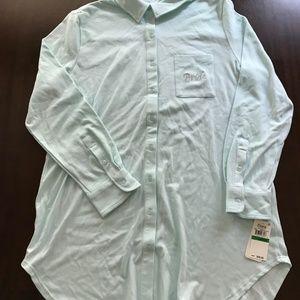 ba472ad5fb4 Flora Nikrooz Intimates   Sleepwear - NWT! BRIDAL BLUE SleepShirt w  Pocket  Detail